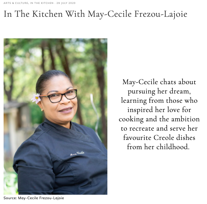 In The Kitchen With May-Cecile Frezou-Lajoie